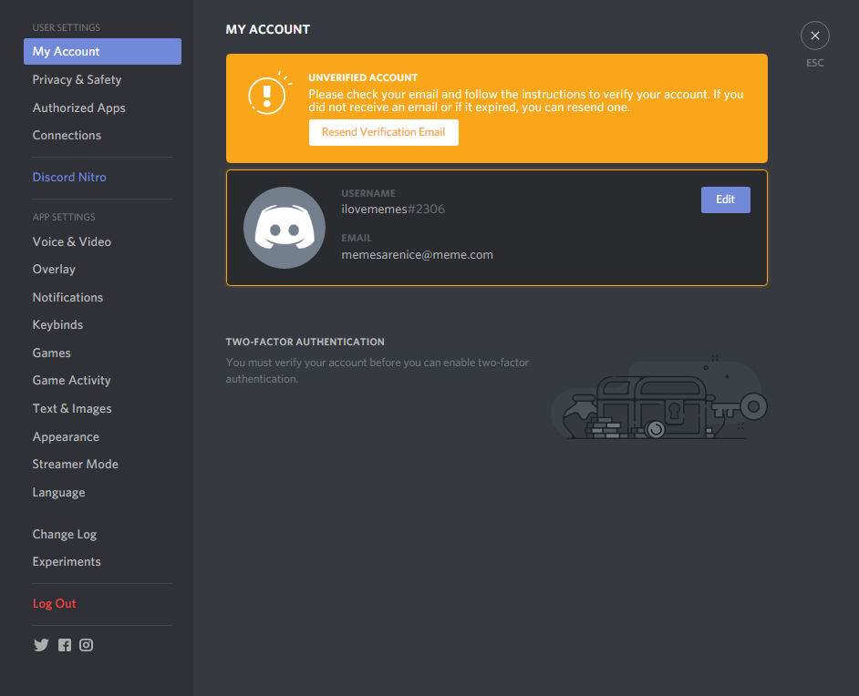Resending Verification Email – Discord
