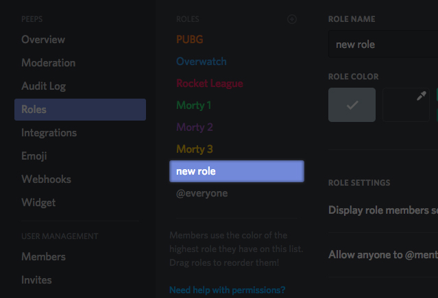 Role Management 101 – Discord
