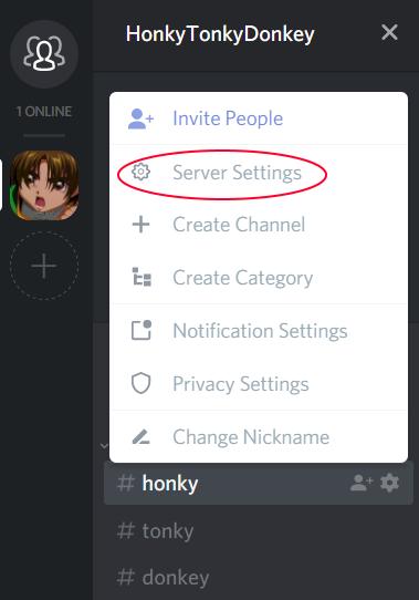 how to delete servers on discord