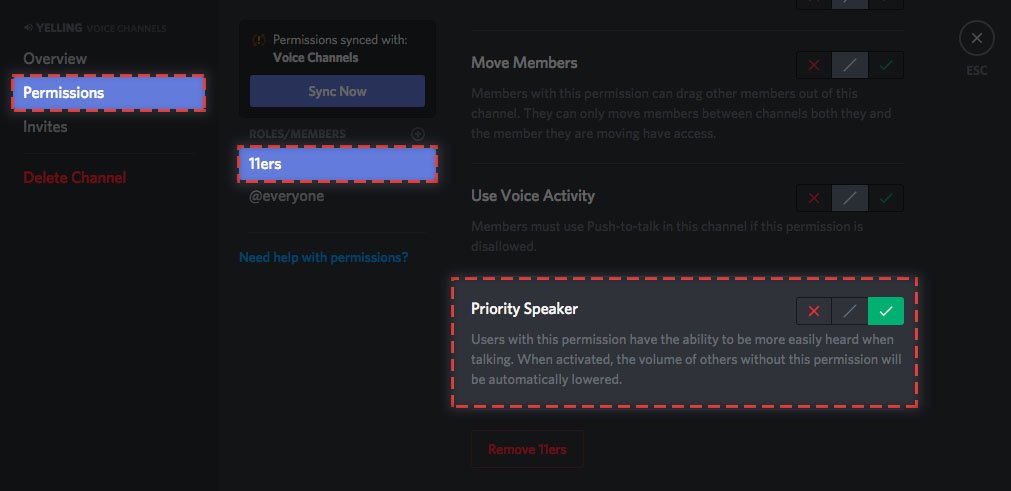 Setting Up Priority Speaker Discord