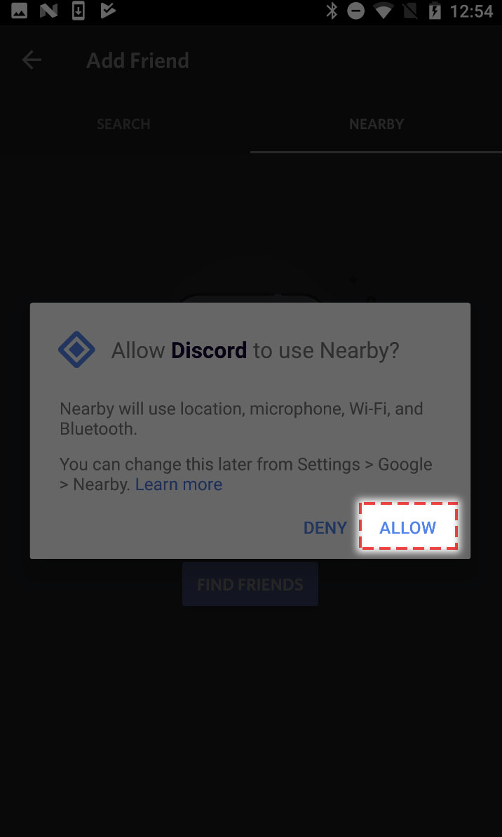 Mobile] Nearby Friends – Discord