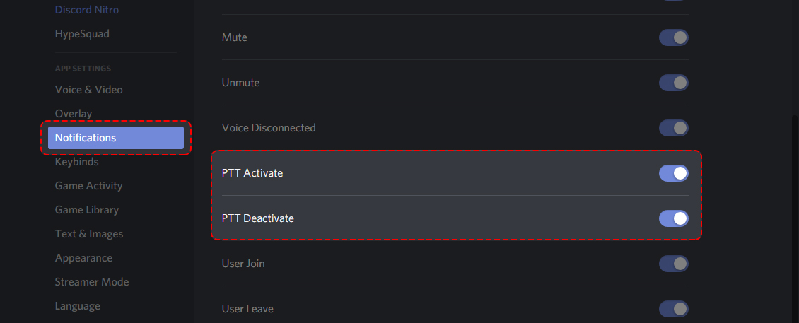 How do I enable/disable Push-to-talk activation noise? – Discord