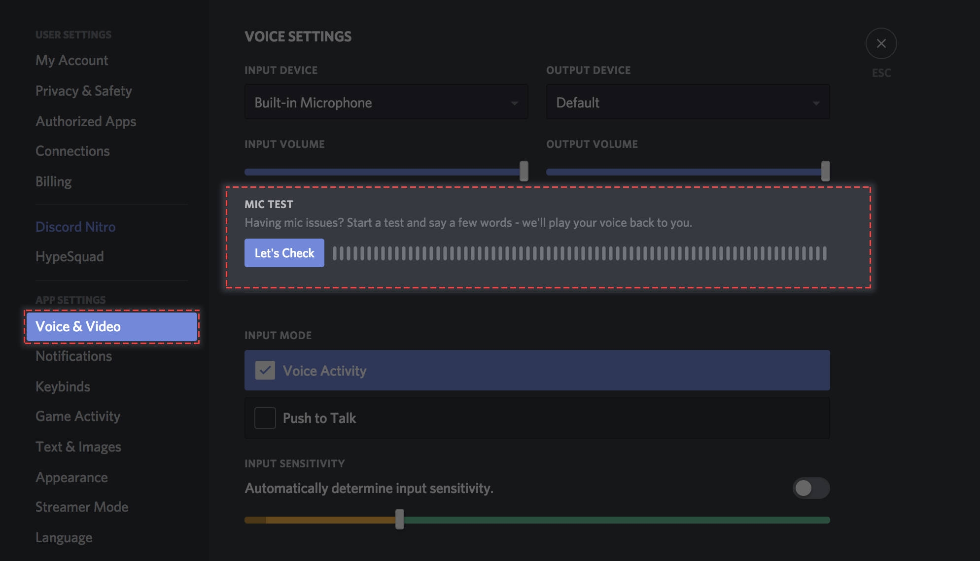 Phone headset mic not working on pc discord