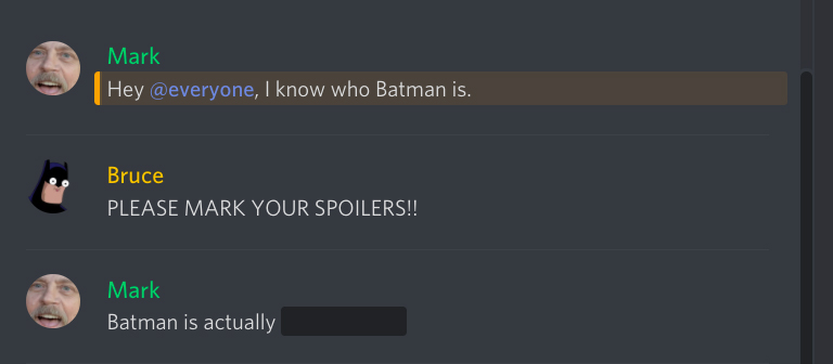 how to make a spoiler in discord