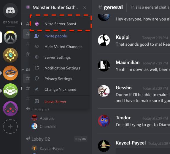 Server Boosting 💨 – Discord