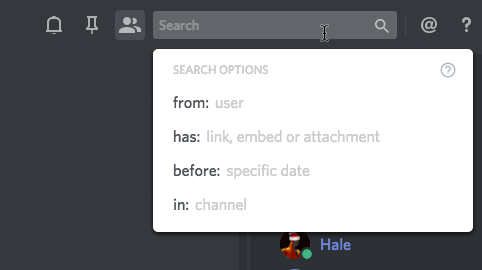 Using Search – Discord