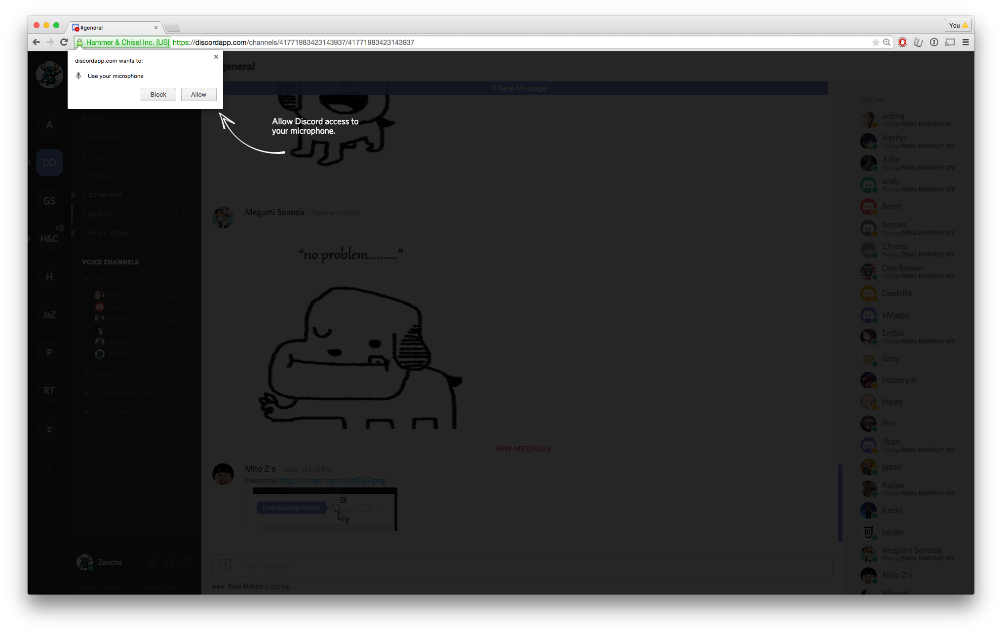 how to change mic in discord