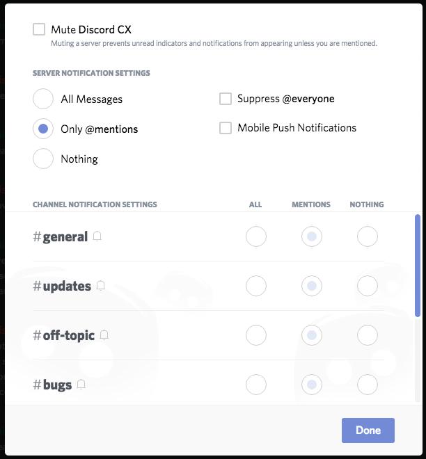 Notifications Settings 101 – Discord