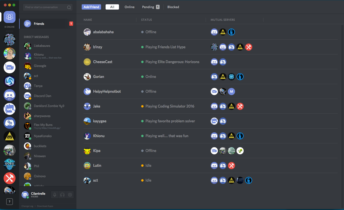 Friends List 101 – Discord