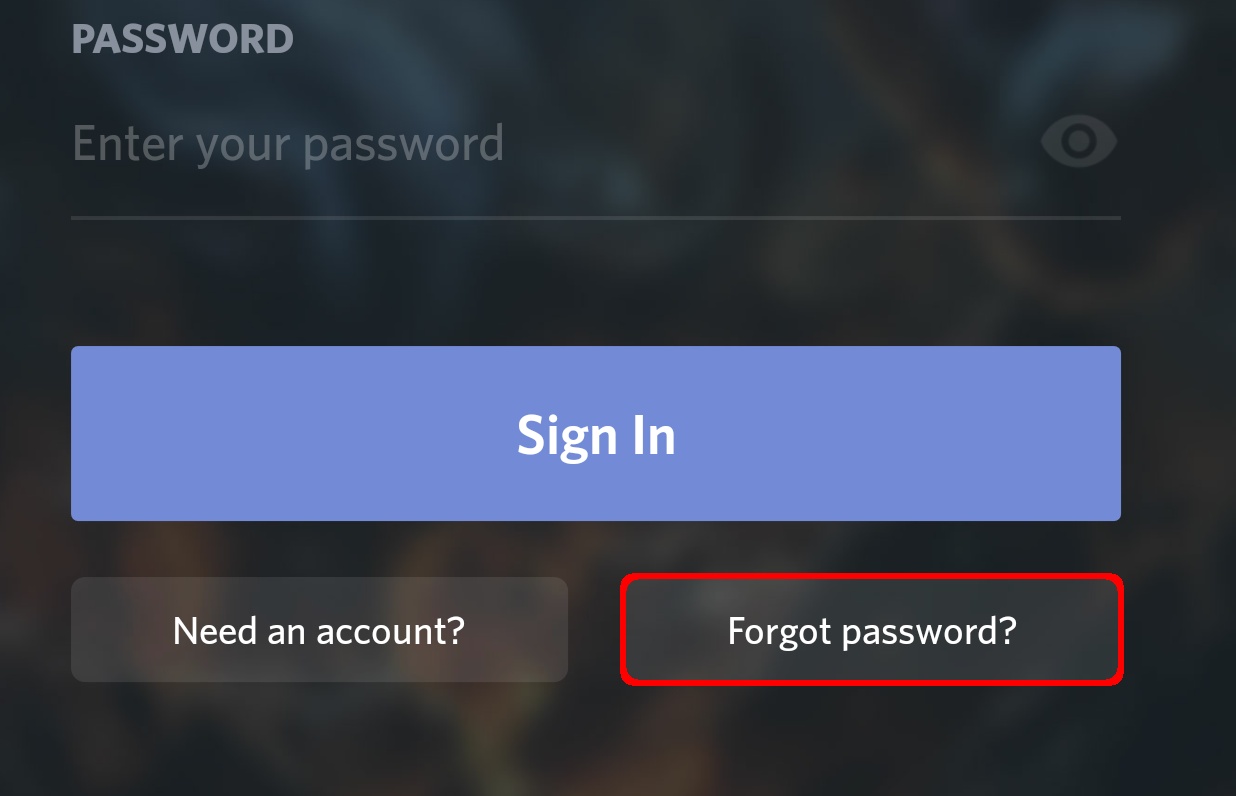 how to change password on discord
