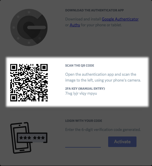 Setting up Two-Factor Authentication – Discord