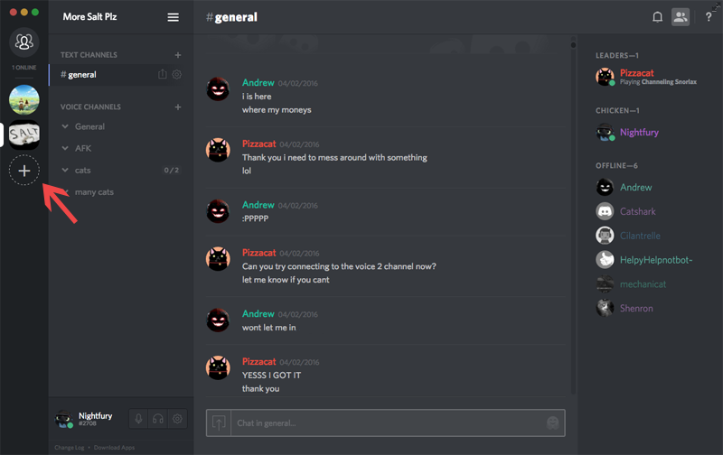 Creating a Server in discord