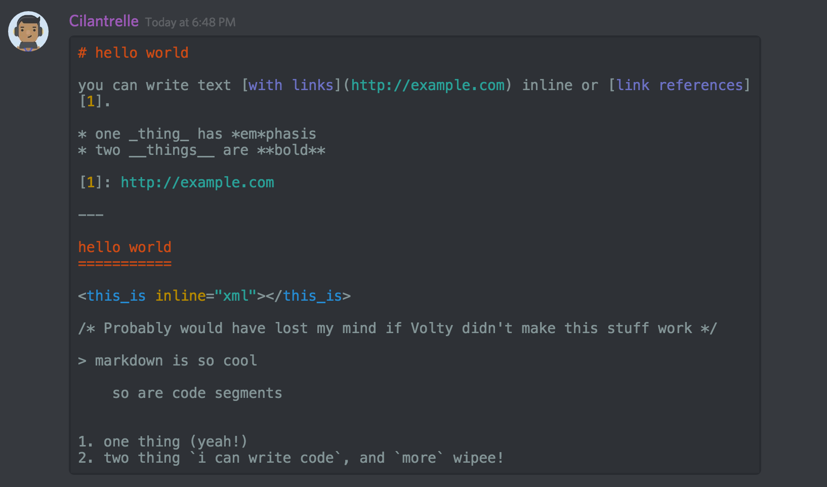 Image result for discord text formatting